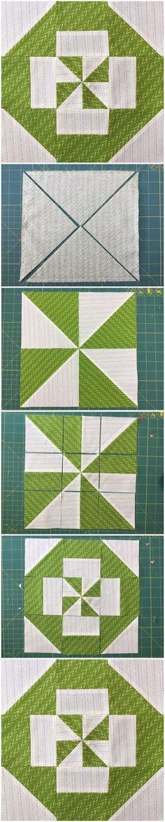 Block 6: Disappearing pinwheel s&ler quilt | Squares, Learning ... : how to make pinwheel quilt blocks - Adamdwight.com