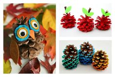 Looking for a fun fall craft to do with the kiddos this week? Check out these adorable pinecones!    http://qoo.ly/bt6ub