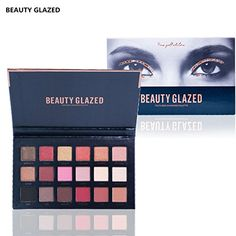 Natural and Organic Skincare - Beauty Glazed Eyeshadow Palettes 18 Colors Waterproof Eye Shadow Powder Make Up Palette Shimmers Mattes Browns Red Burgundy Bronze Glow Kit Contour *** Want to know more, click on the image. (This is an affiliate link) #NaturalandOrganicSkincare