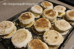 Egg and Cheese Breakfast Sandwiches 1 = 6 pts + Has good directions on ...