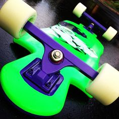 Incline Fropic-X (2012) Caliber 50s, painted grape #Longboarding #Longboards #longboard #skate #skateboard #Skateboards #Longboardlife