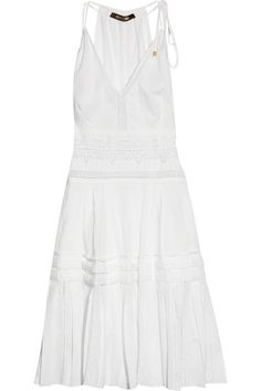 white sun dress by Roberto Cavalli