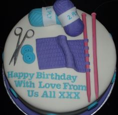 Another knitting cake from CakeCentral.com
