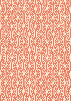 Rinca #wallpaper in #coral from the Biscayne collection. #Thibaut