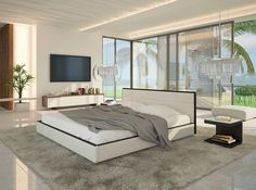 Jasna, nowoczesna sypialnia