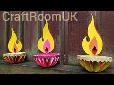 Festive Crafts, Diy Crafts For Gifts, Easy Crafts For Kids, Diwali Diy, Diwali Craft, Diy Diwali Decorations, Handmade Decorations, Handmade Diwali Greeting Cards, Diy Fest