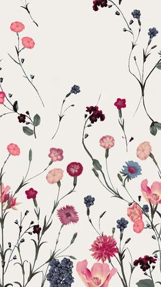 Floral wallpaper ♣️Fosterginger.Pinterest.ComMore Pins Like This One At FOSTERGINGER @ PINTEREST No Pin Limitsでこのようなピンがいっぱいになるピンの限界