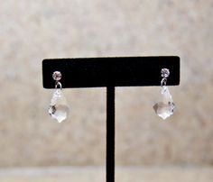 Crystal Earrings Small Crystal Dangles for by GSquaredDesigns81