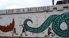 Love is a battlefield Street art Rotterdam the Netherlands