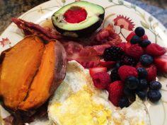 Sweet Potato, Eggs, Avocado With Caviar, And Berries: 9/16/14