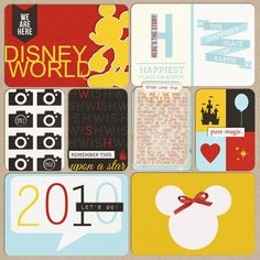 Project Life Scrapbooking Pages | Disney Project Life pages | Scrapbooking