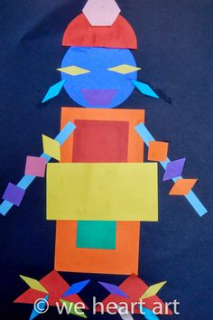 we heart art: Geometric Shape Monsters