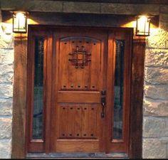 Rustic Knotty Alder Entry Door With Sidelites | eBay Front Door Images, Double Front Doors, Wood Front Doors, Front Door Design, Front Entry, Wooden Doors, Industrial Front Doors, Rustic Doors, Barn Doors