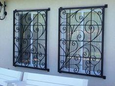 Unlocking your window protection from inside your home or business Windows, Burglar Bars, Metal Clock, Metal Wall Decor Bedroom, Window Bars, Door Security Devices, Metal Wall Clock, Front Door Security, Window Design