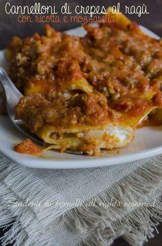 Learn to Make Italian Food Polenta, Italian Dishes, Italian Recipes, Cannelloni Ricotta, Crepe Recipes, Pasta Dishes, Love Food, Cooking Recipes, Yummy Recipes
