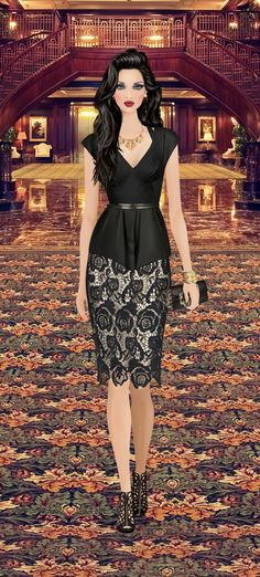Black Swan gala event on Covet Fashion Game