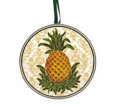 Pineapple Plate Ornament