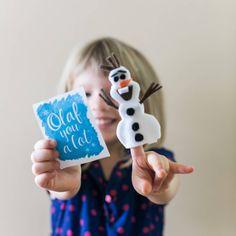 Olaf Finger Puppet Valentine