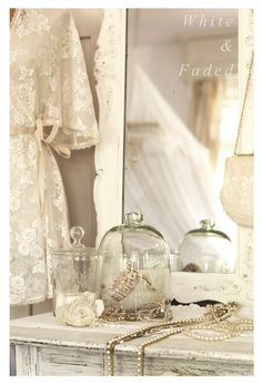 Vintage lace, pearls, cloches, vintage bridal flowers in Nude and Ivory