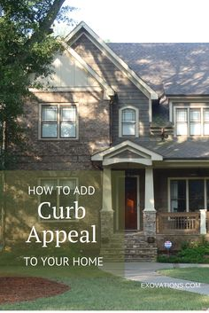 There are so many ways to increase your home's curb appeal. Here are a few ideas. | EXOVATIONS | Atlanta Home Exterior Remodeling