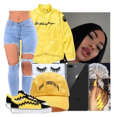 """""""Untitled #235"""" by queenag123 ❤ liked on Polyvore featuring beauty, Huda Beauty, A BATHING APE and Vans"""