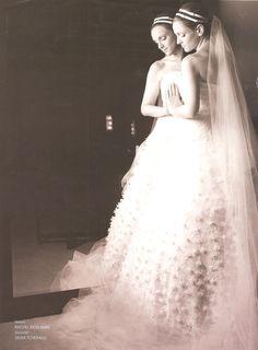 Silvia Tcherassi #wedding #dress #gown #veil #romantic #custommade #designer #bride