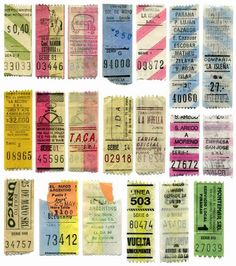 Tickets, oh so beautiful ephemera!