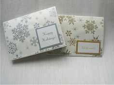 Winter Snowflake Blank Card Set of 12 Can be Personalized