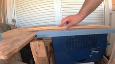simple stand for table saw lockdown project- Margaritis (Takis) Kailos Pallet Boards, Old Cabinets, Table Saw, Home Appliances, Simple, Videos, Projects, House Appliances, Log Projects