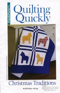 Originating in the Dalarna province, horses have now become a symbol of Sweden, and are the inspiration for this quick and easy appliqué quilt called Christmas Traditions. Swedish Christmas, Scandinavian Christmas, Xmas, Quilt Baby, Baby Applique, Applique Quilts, Easy Quilts, Small Quilts, Scandinavian Quilts