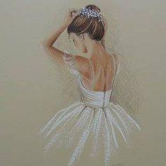 Ballerina Painting, Ballerina Art, Ballet Art, Ballet Dancers, Ballet Drawings, Dancing Drawings, Art Drawings, Ballet Pictures, Dance Pictures