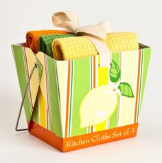Citrus Takeout Dish Cloth Set How Cute Is That Perfect House Warming Or Bridal