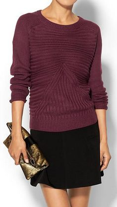 ribbed crew neck sweater  http://rstyle.me/~2xRRu