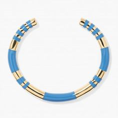 Aurelie Bidermann has had so much success with this 18k gold-plated enamel Positano bracelet, $290, she's been offering up new colors for it.