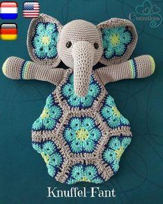 Het betreft een patroon, u ontvangt een PDF bestand zodat u zelf Knuffel-Fant kunt maken PDF in Nederlands, English, Deutsch Crochet Lovey, Crochet Baby Toys, Crochet Diy, Crochet Amigurumi, Baby Girl Crochet, Crochet For Kids, Crochet Crafts, Crochet Dolls, Crochet Projects