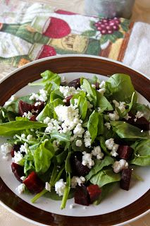The Cultural Dish: Arugula Salad with Beets and Goat Cheese #SensationalSides