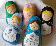 Russian stacking dolls felties