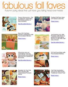 Fabulous Fall Faves - BigDotOfHappiness.com's list of favorite DIY party ideas and fall party themes #BigDot #HappyDot