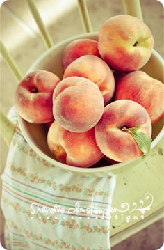 Smell: Peaches, because it reminds me of my childhood. There's a tree in my backyard