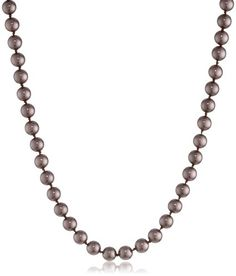 "Colored Simulated 8mm Pearl Strand Necklace, 30"" *** Read more reviews of the product by visiting the link on the image."