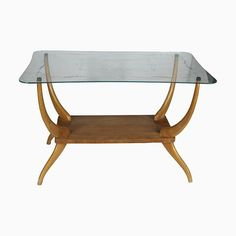 Italian Light Wood Coffee Table, for Shop with global insured delivery at Pamono. Shelves For Sale, Mid Century Modern Desk, Coffee Tables For Sale, Mid Century Coffee Table, Decoration, Rattan, Vintage Designs, Teak, Dutch