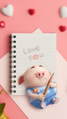 I love you ♥ Pig Wallpaper, Mickey Mouse Wallpaper, Cute Disney Wallpaper, Cute Cartoon Wallpapers, Animal Wallpaper, Flower Wallpaper, Mobile Wallpaper, Colorful Wallpaper, Black Wallpaper