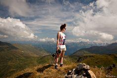 The wonderful view from Kleiner Gilfert in the Zillertal valley, in the austrian Alps.  Tyrol, Austria