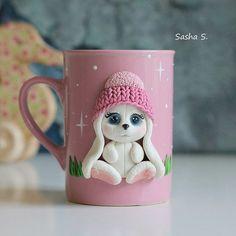 Růžový hrníček • s pejskem