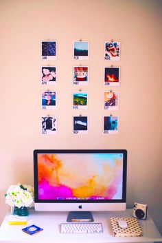 DIY Calendar + room decorations! (click on picture for YouTube Tutorial!) #DIY #calendar #polaroids