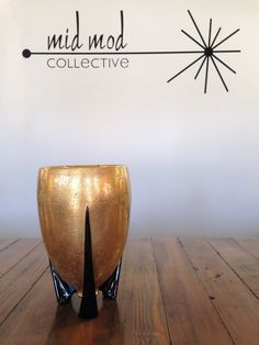 Mid century modern atomic vase. Available at Mid Mod Collective. Email midmodcollective@gmail.com for more info. SOLD!