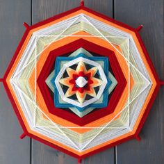 white lines over white backgrounds God's Eye Craft, Mandala Yarn, Plant Crafts, Gods Eye, Hobbies And Crafts, Origami, Decorative Plates, Projects To Try, Painting