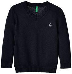 UNITED COLORS OF BENETTON S//L V Neck Sweater Shirt Gar/çon