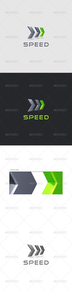 Speed  Performance Logo 3D — Photoshop PSD #performance logo #arrows logo • Available here → https://graphicriver.net/item/speed-performance-logo-3d/535348?ref=pxcr