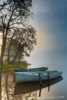 Landscape Pictures/Photographs of Loch Achray, Trossachs, Scotland A misty morning on the north shore of the loch looking east. Beautiful World, Beautiful Places, Beautiful Pictures, Foto Nature, Landscape Photography, Nature Photography, Boat Art, Old Boats, Belle Photo